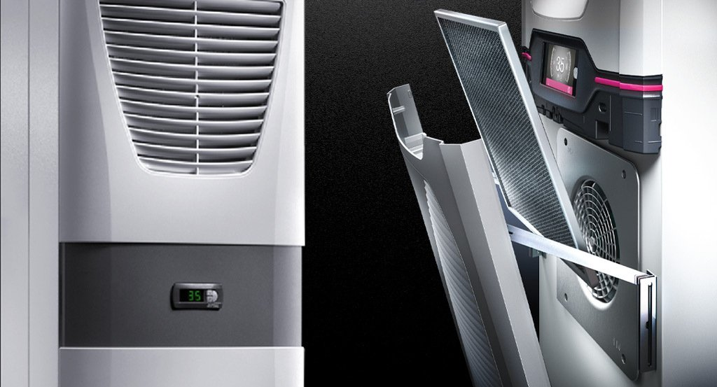 Rittal's Blue e and Blue e+ cooling units.